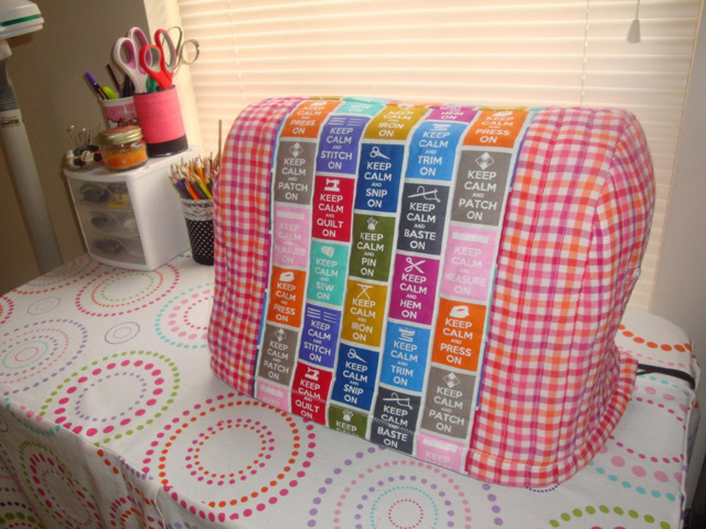 Learn how to make a sewing machine cover. Tutorial by Plum and Petal Sews.