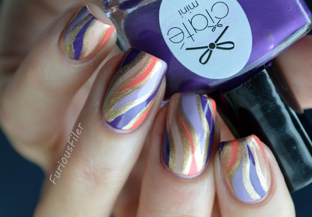#31dc2015 marble stone jasper colourful veins nails