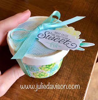 Stampin' Up! Painted Seasons Sweet Cup + FREE Template PDF Download ~ 2019 Sale-a-Bration ~ www.juliedavison.com