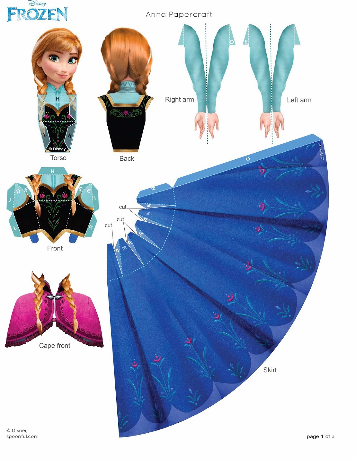 Frozen: Free 3D Printable  Paper Doll Template