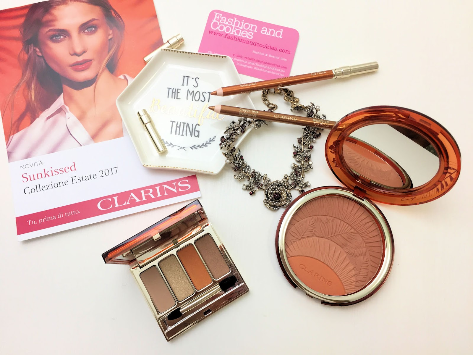 Clarins makeup collezione Sunkissed per l'estate 2017 su Fashion and Cookies beauty blog, beauty blogger