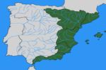 Mapa de la vertiente mediterránea