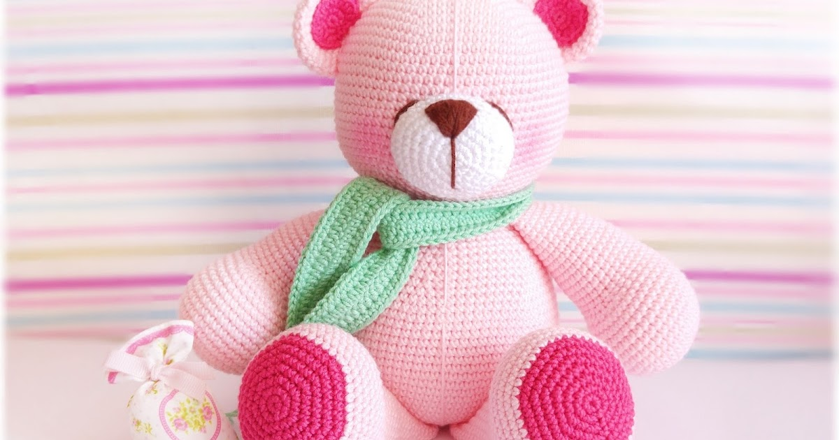 Amigurumi How To Change Color : Amigurumi Pembe Ayicik-Amigurumi Pink Bear Tiny Mini Design