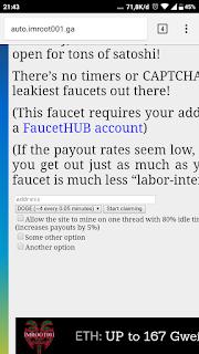 Web auto claim instan wd faucethub