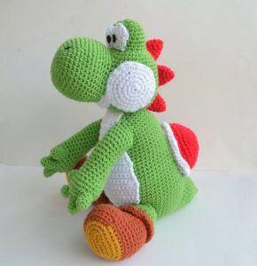 Amigurumi Dinosaur Yoshi Crochet Free Pattern - Amigurumi Free ... | 300x290
