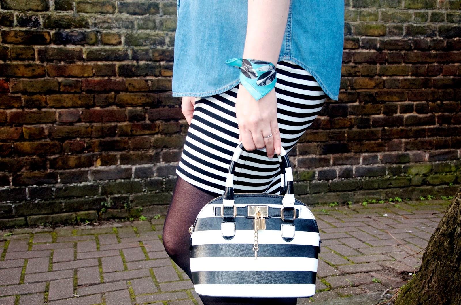 stripes, denim and print