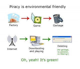 piracy is environmental friendly, green piracy