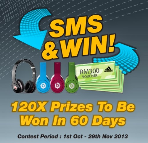 Adidas Bodycare SMS & Win contest - Malaysia Online and Offline