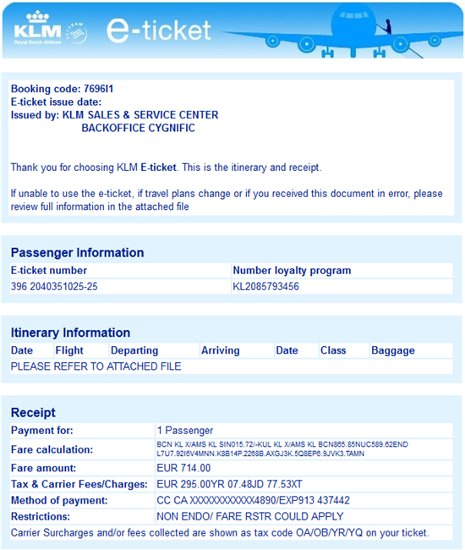 Fake Klm E Ticket Emails Contains Malicious Attachments