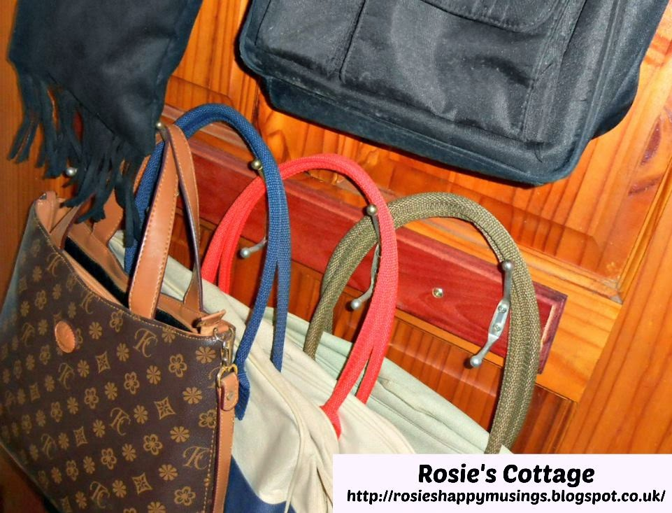 DIY Tiny Closet Handbag Storage