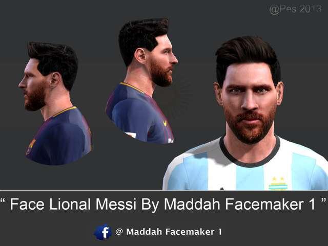 Face Lional Messi PES 2013