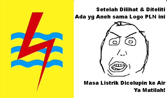 Meme Logo PLN Listrik Dicelup ke Air