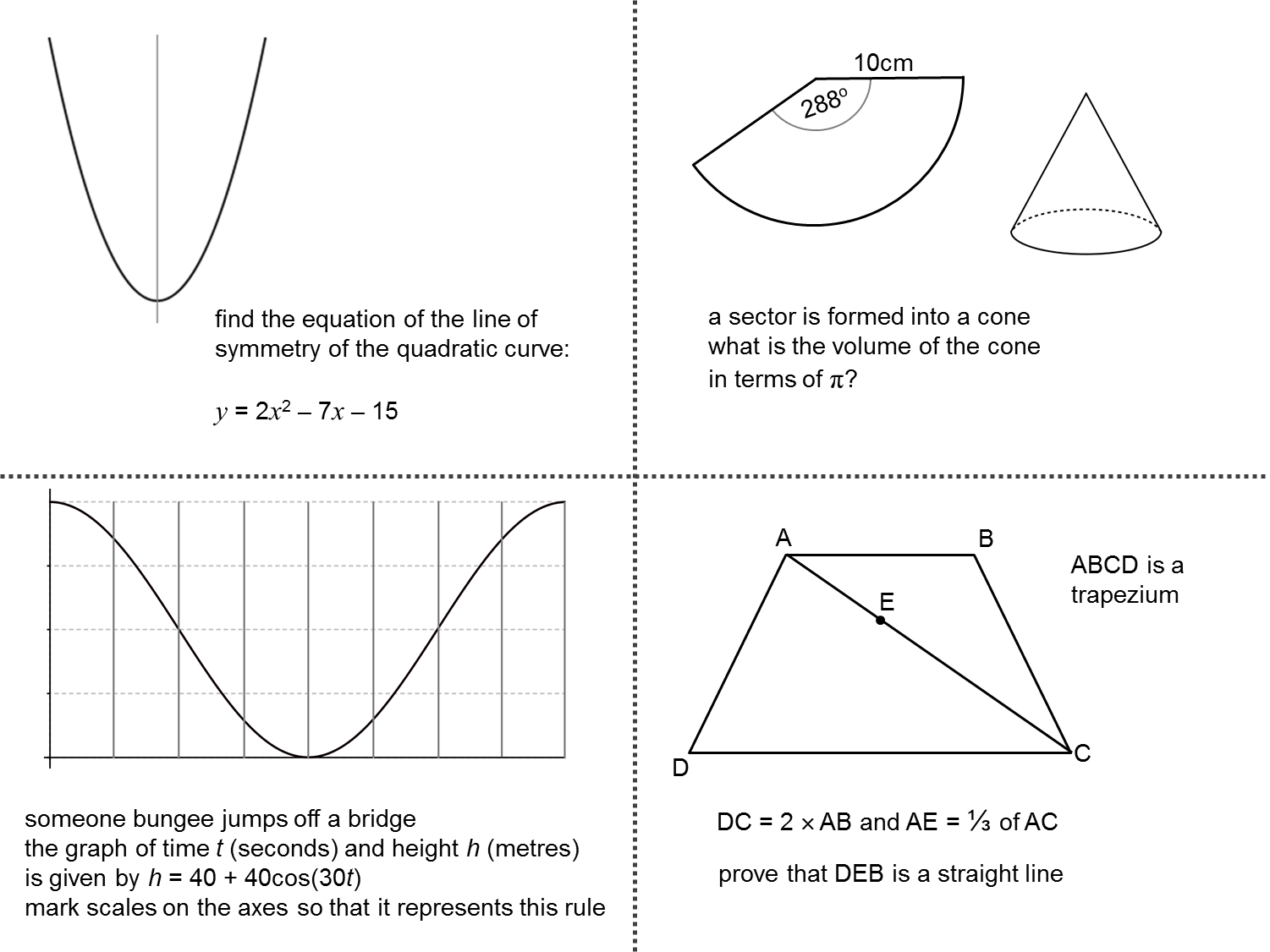 Quadratic Simultaneous Equations Worksheet Maths Genie Answers