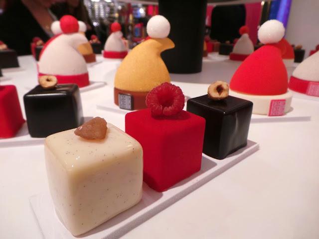 Fauchon traiteur noël petits fours foie gras