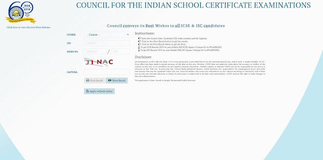 CISCE class X result, CISCE Class 12 Result, ISC class 10 result, ICSE Class 12 Result, Steps to Check ICSE , ISC Result