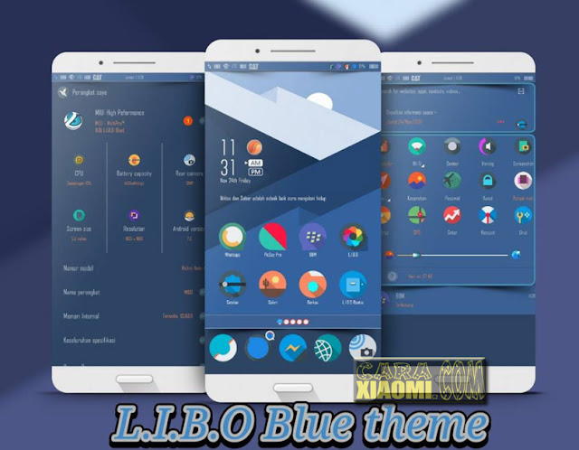 Tema MIUI L.I.B.O Blue Theme (Let It Be O) Update Versi Mtz For Xiaomi