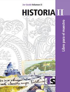 Historia II Volumen II Libro para el Maestro Tercer grado
