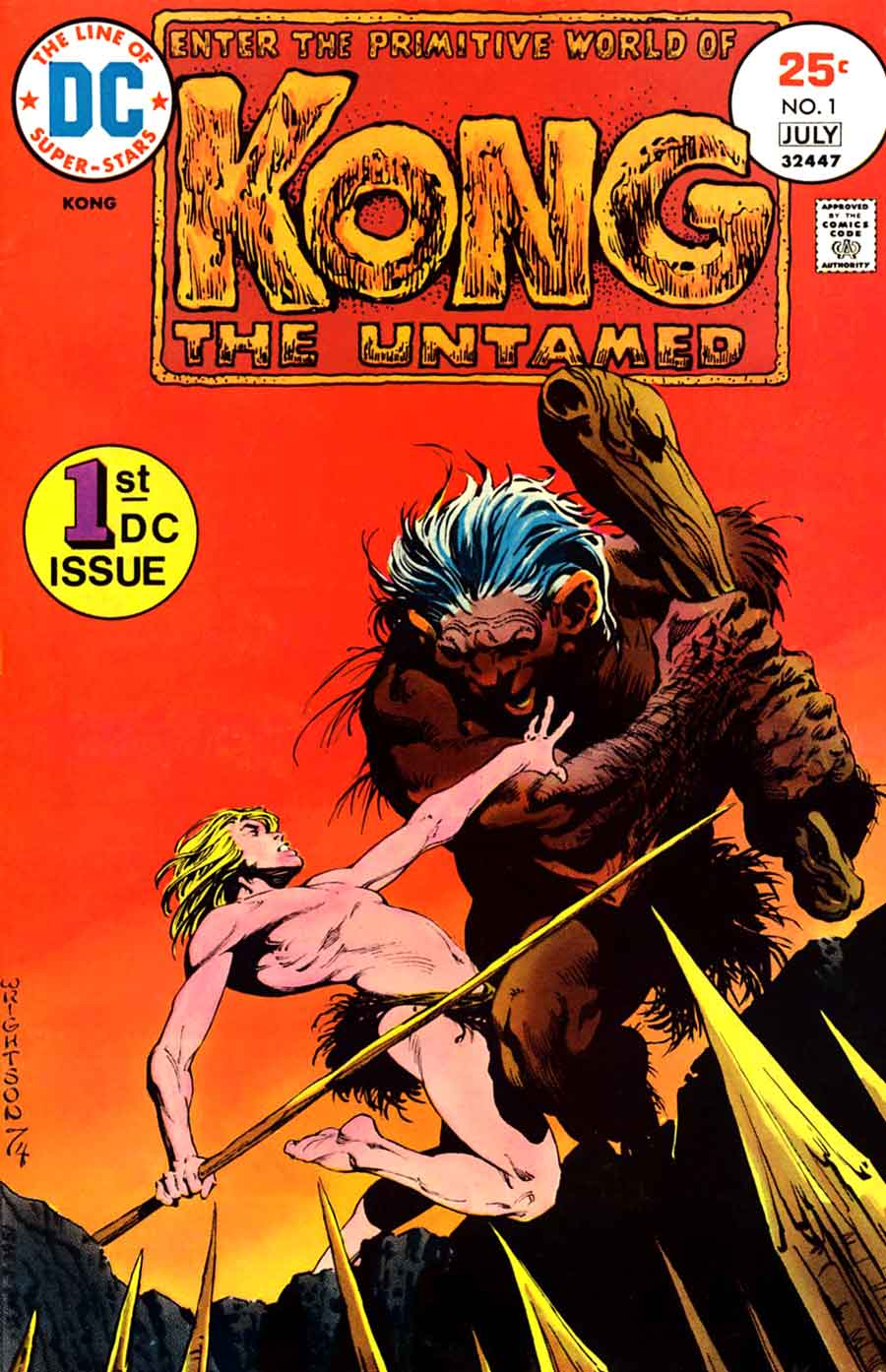 Kong the Untamed v1 #1 - Bernie Wrightson dc bronze age comic book cover art