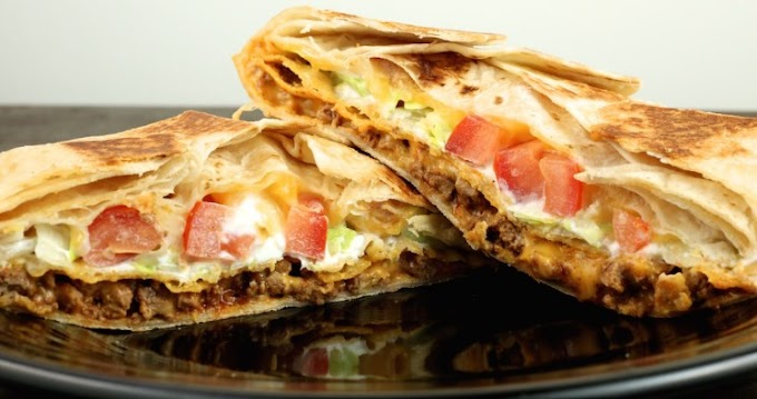 Homemade Crunchwrap Supreme Recipe #dinner #deliciousmeal