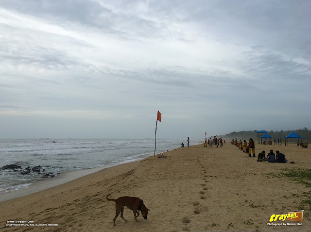 Tannirbavi beach during monsoon in Mangalore, Karnataka, India