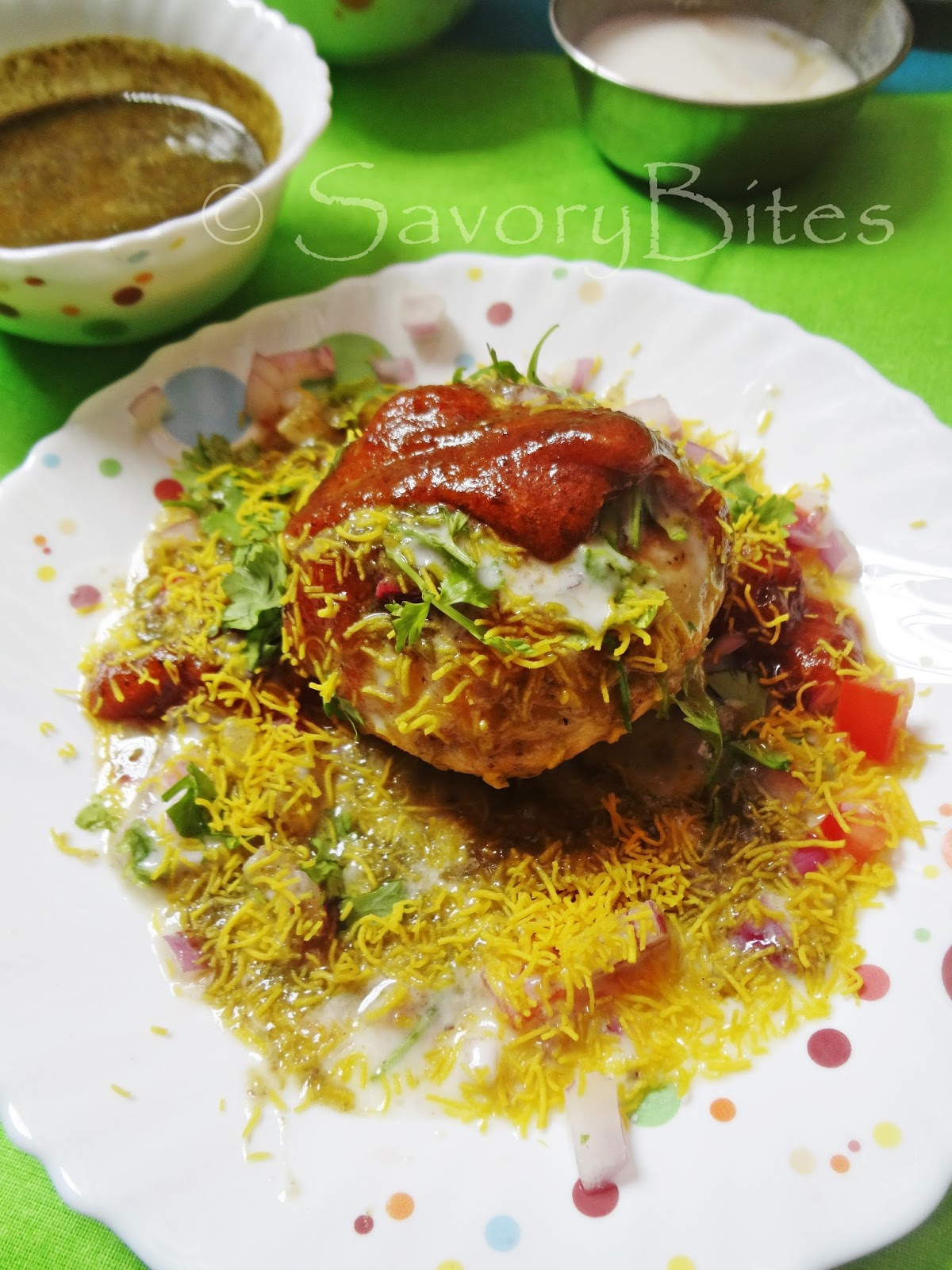 Moong Dal Kachori Chaat Snacks