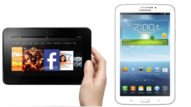 "Kindle Fire HD 7"" vs Samsung Galaxy Tab 3 7.0 