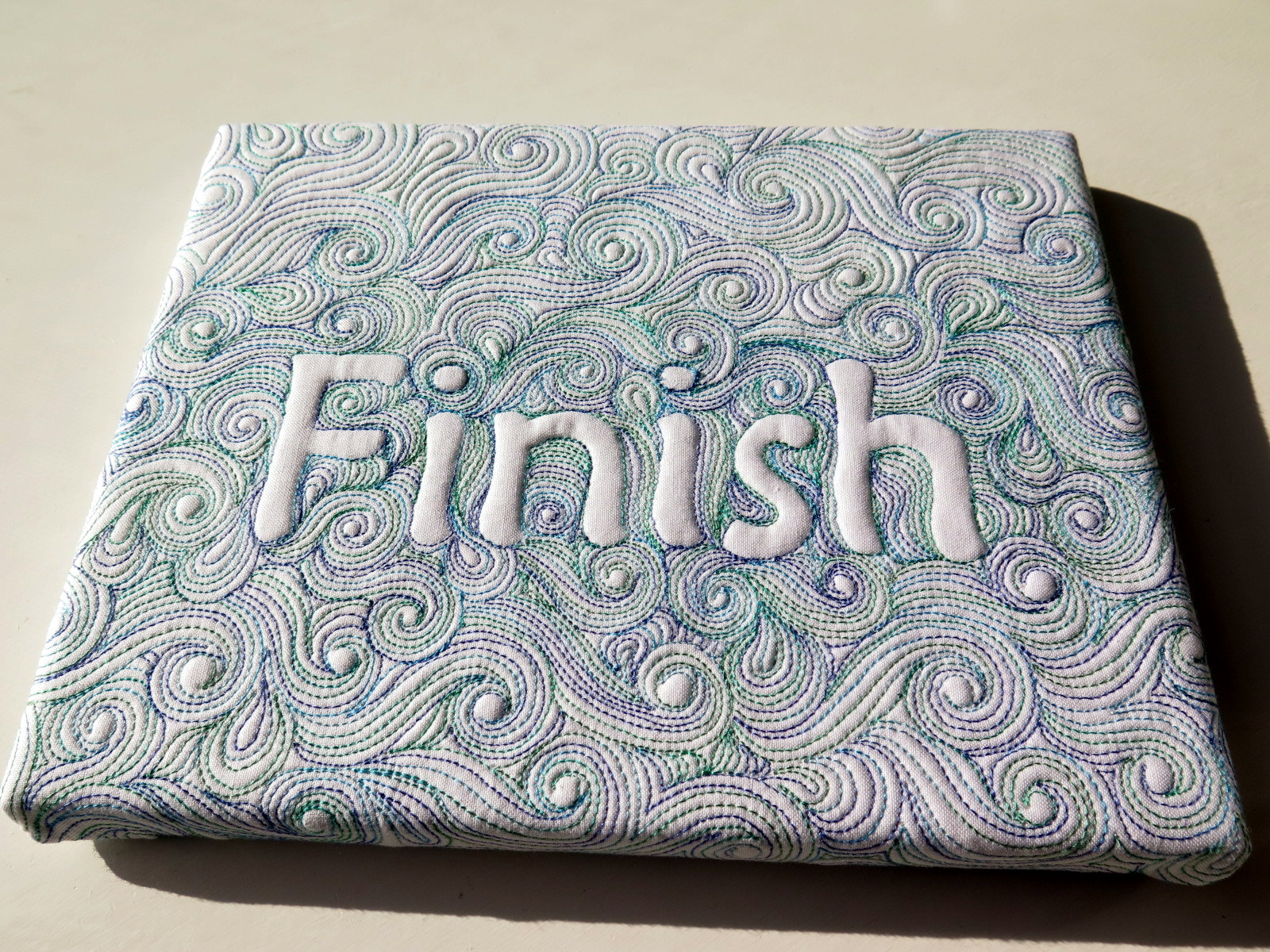 Finish- my word of the year free motion quilted