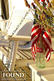 red white and blue, summer, junk, repurpose, party decor, entertaining, Memorial Day, Labor Day, Fourth of July, tablescape,  homewardFOUNDdecor.com
