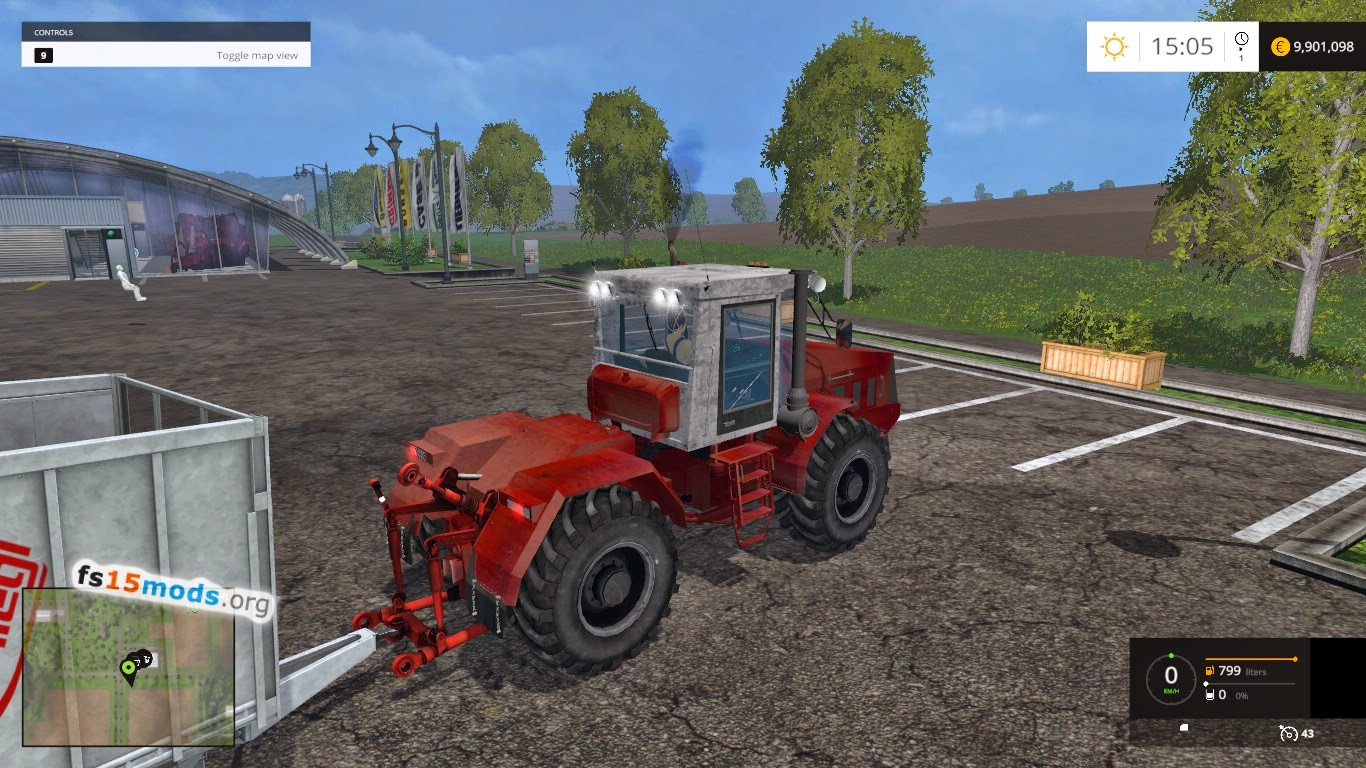 Kirovets k744 tractor fs15 mods for The russian mod