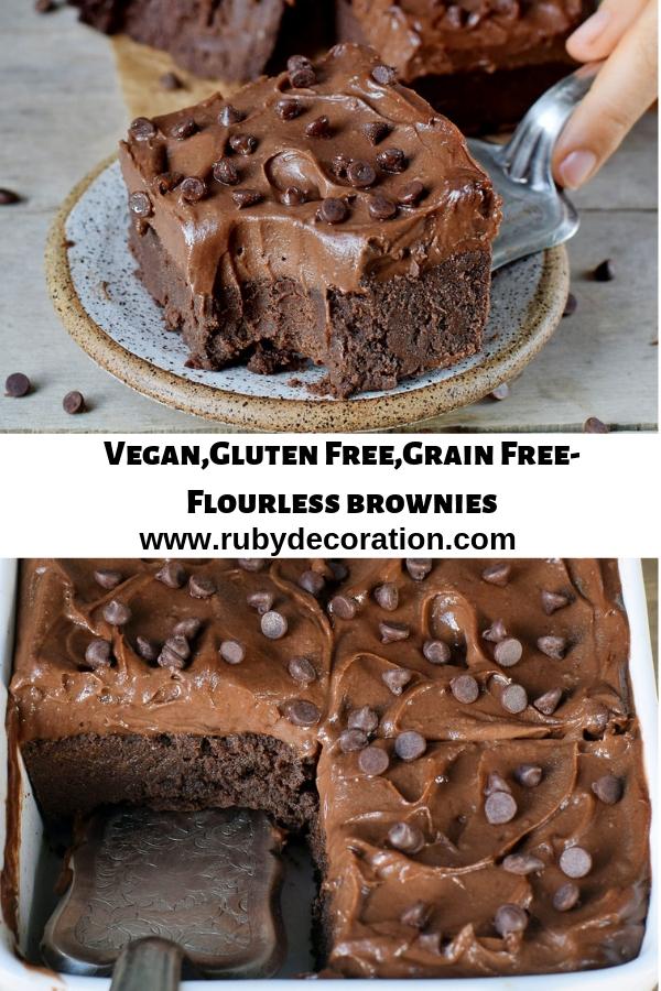 Vegan,Gluten Free,Grain Free-Flourless brownies