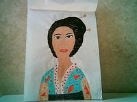Japanese kimona lady sketch by Gloria Poole; painted when I lived in Colorado zip code 80203; acrylics