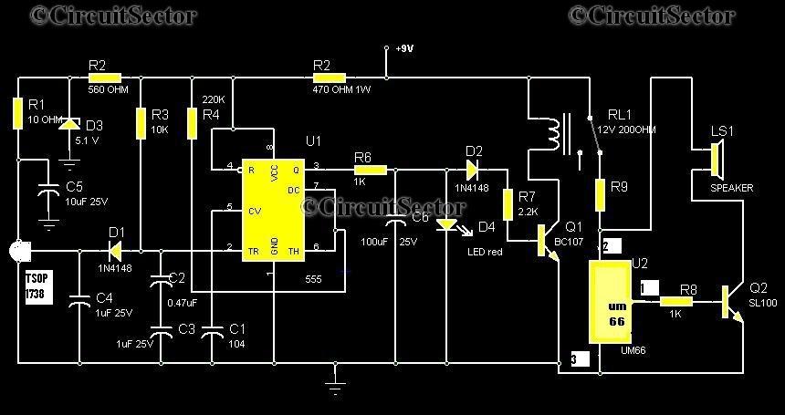 Burglar Alarm Cost >> Electroniczzzz For U : Infrared Burglar Alarm Using Remote control