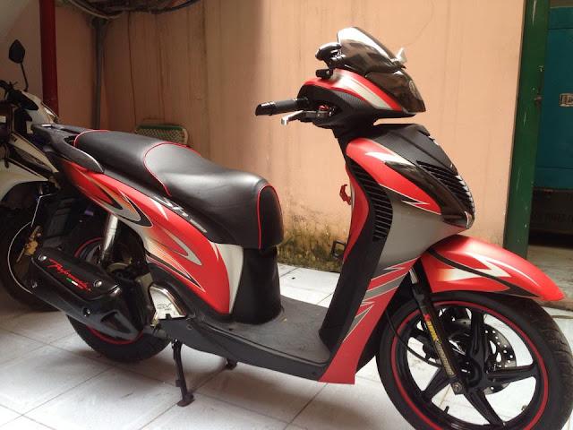 Mẫu Sơn xe Honda Sh đỏ đen thể thao