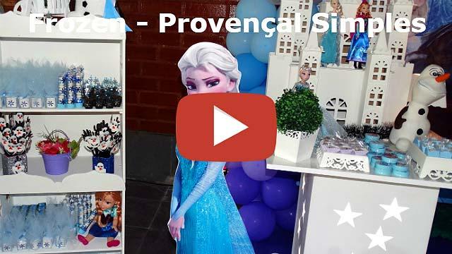 Vídeo decoração Frozen provençal simples