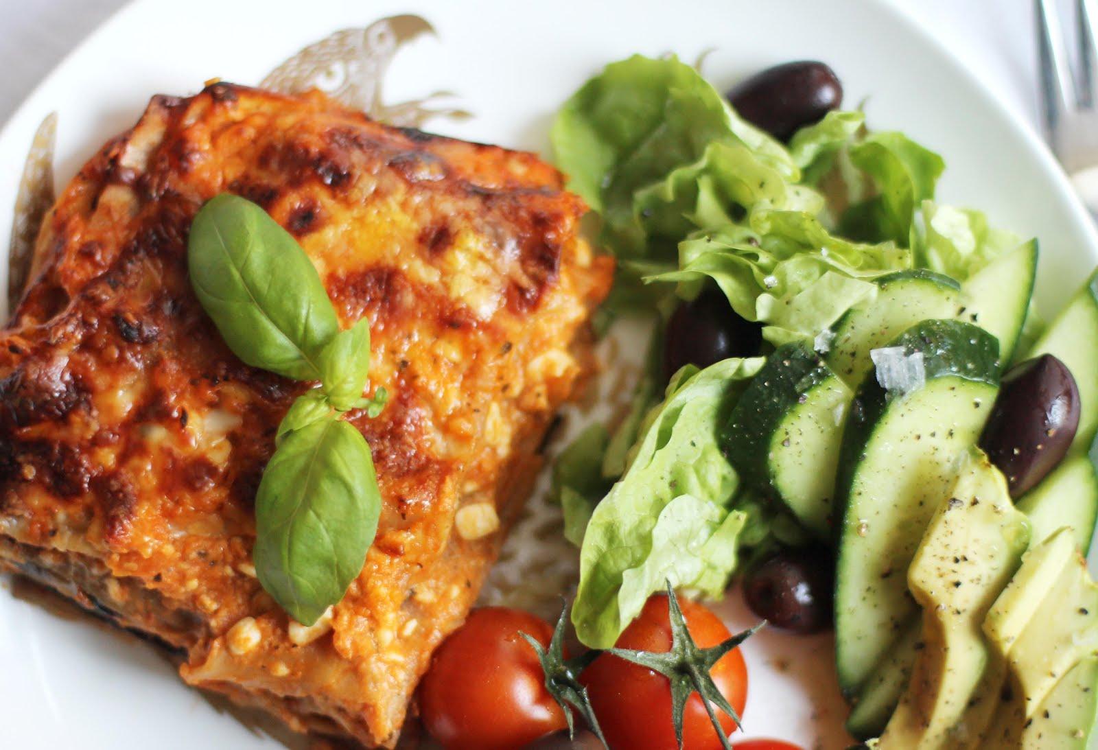 vegetarisk lasagne spenat keso morötter