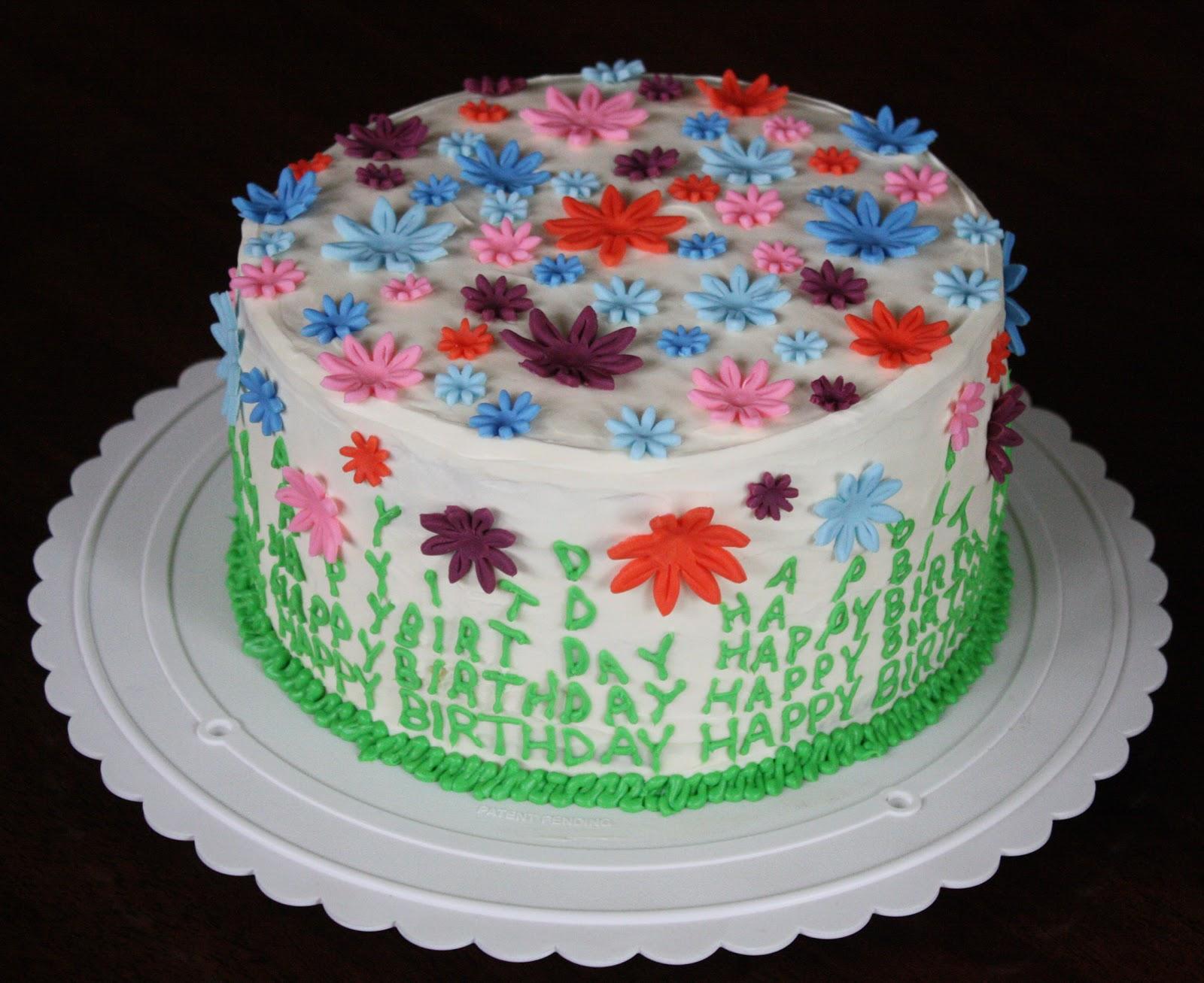 Moms Spring Birthday Cake