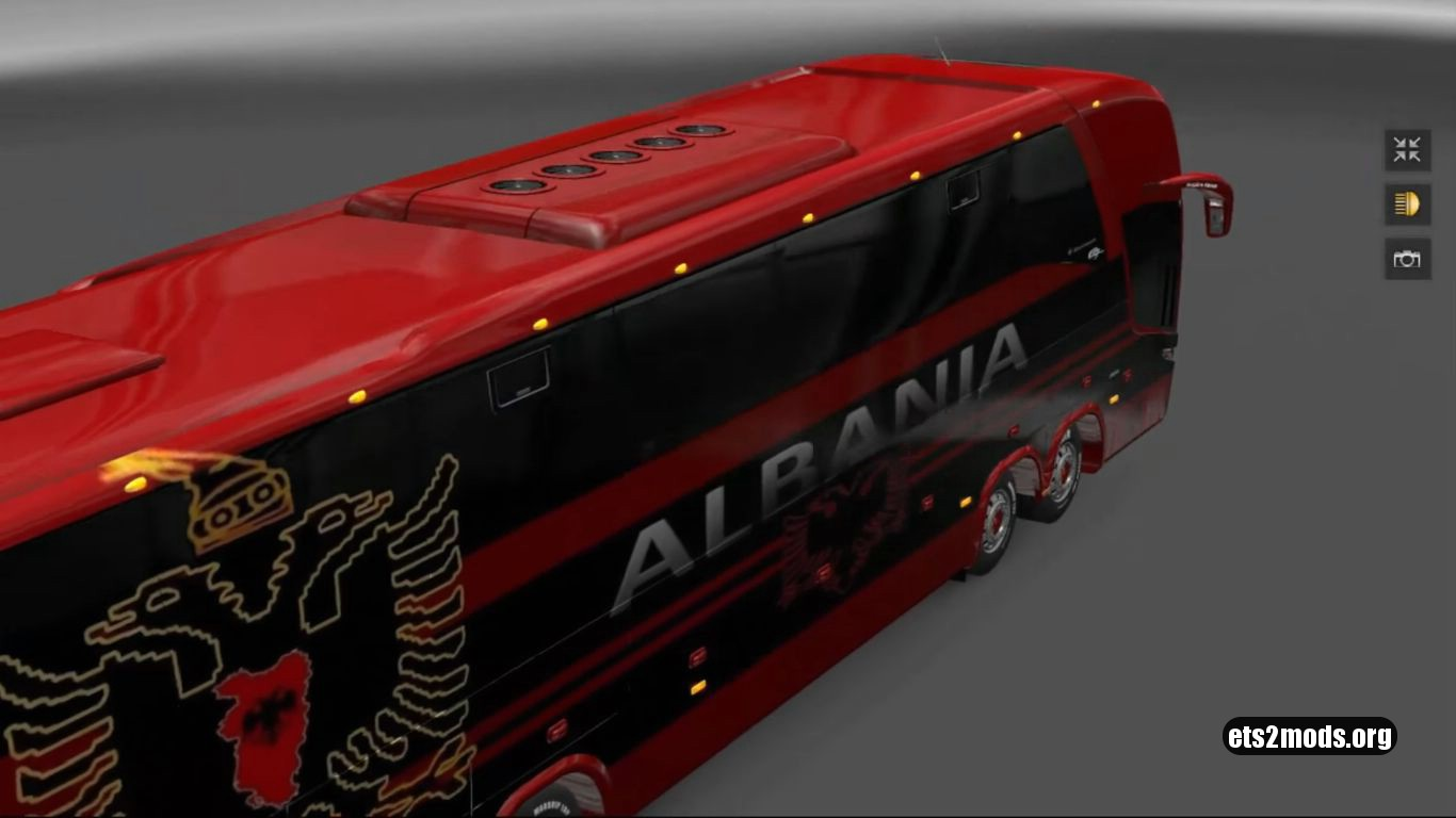 Bus – Marcopolo G7 1600LD Albania Football Team Skin