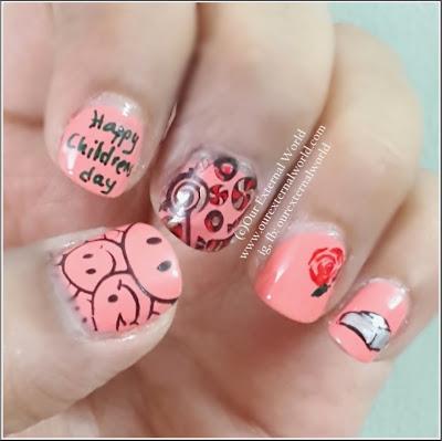 Nail Art - Happy Children's Day