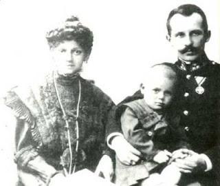 San Juan Pablo II, con sus padres