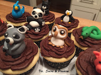 Fondant Cute Animals Cupcakes