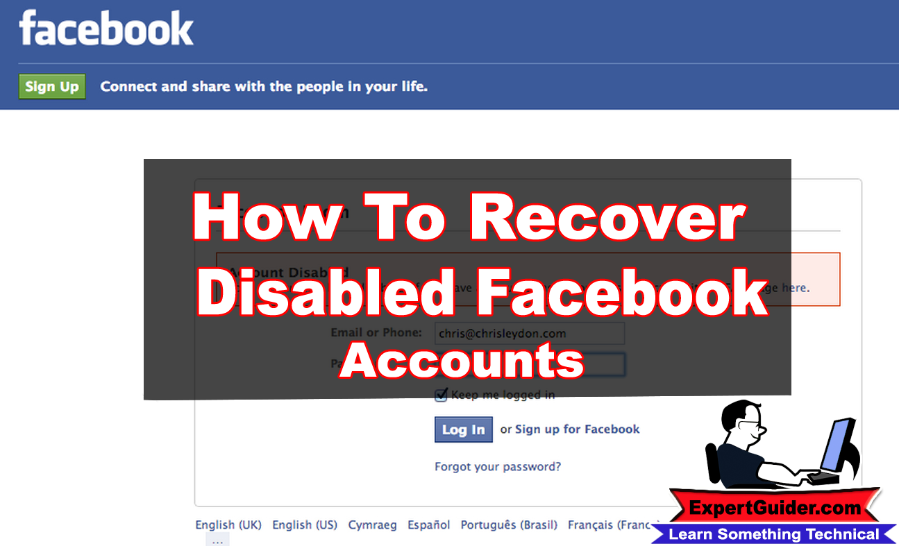 Discussion on this topic: How to Recover a Disabled Facebook Account, how-to-recover-a-disabled-facebook-account/