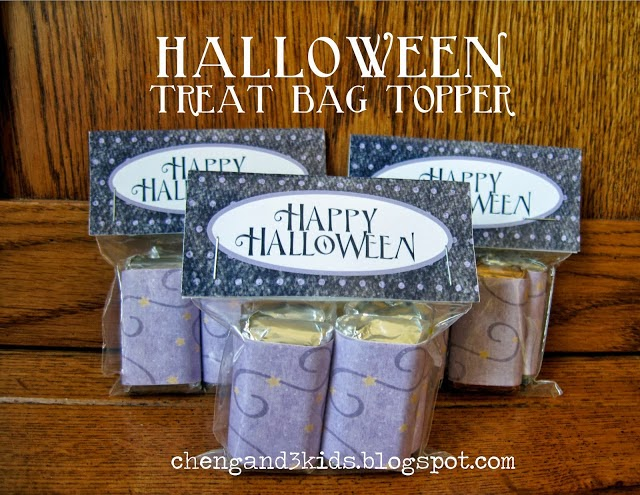 free Halloween treat bag topper