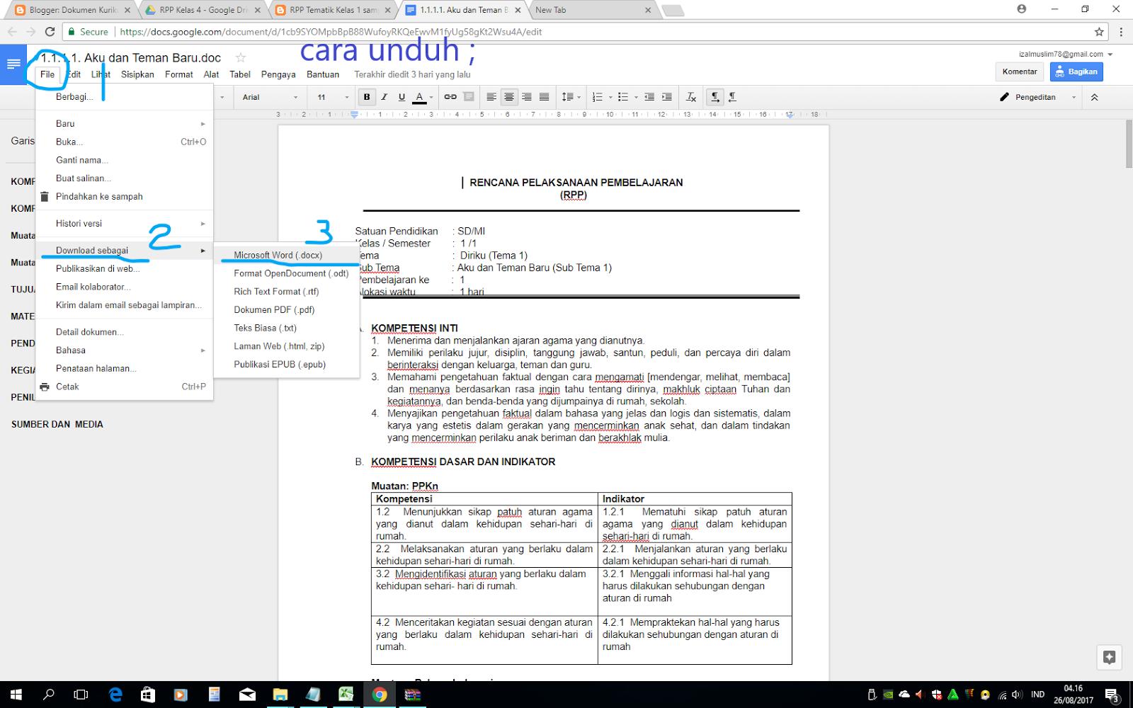 Rpp Tematik Kelas 1 Sampai Kelas 6 Sd Mi Kurikulum 2013 Revisi 2017 Dokumen Kurikulum 2013 Revisi Terbaru