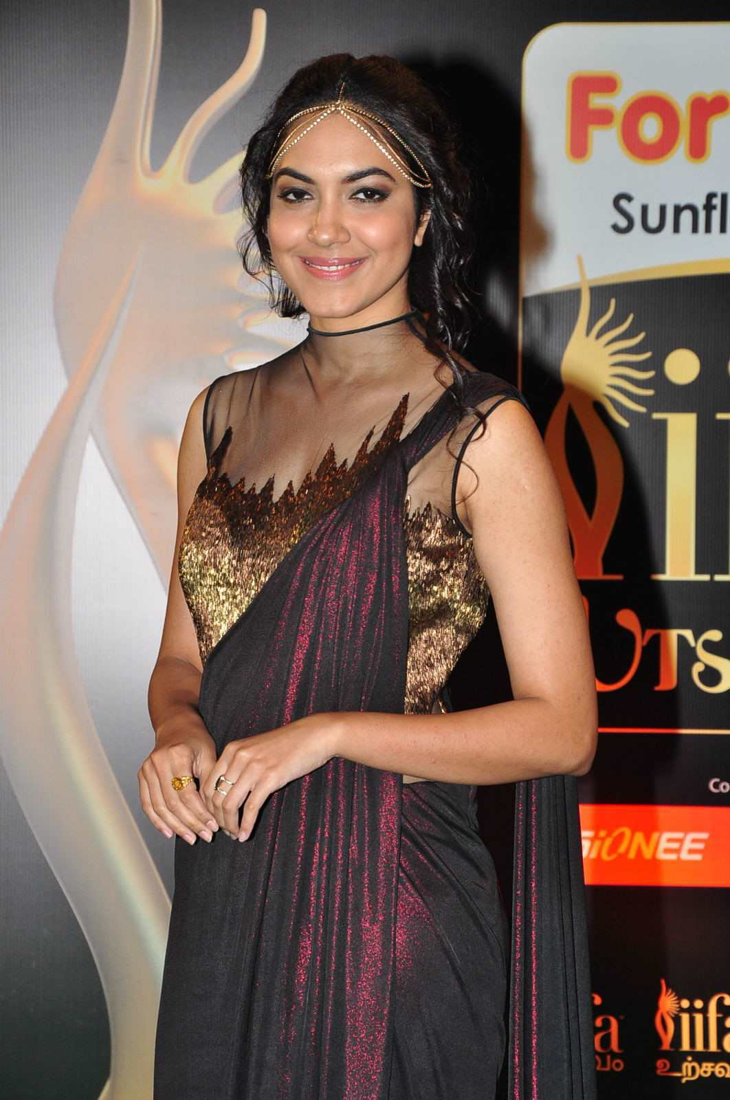 Actress Ritu Varma At IIFA Awards In Maroon Dress