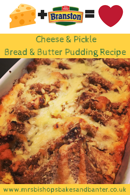 Cheese & Pickle Bread & Butter Pudding Recipe