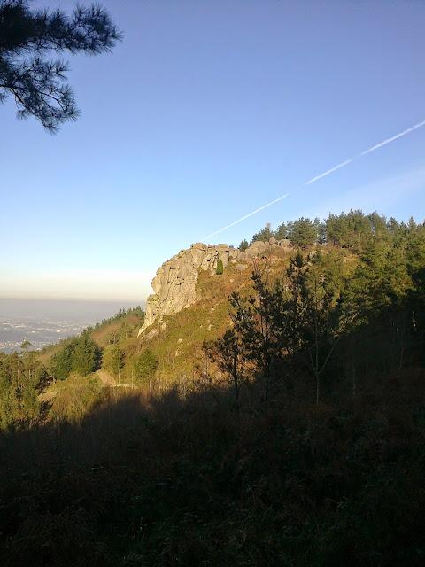 Petón do Xalo en el monte Xalo en Culleredo