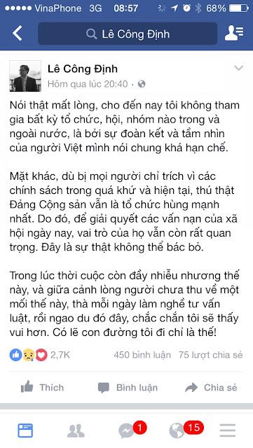 Tin hót: Lê Công Định đã chán nghề zâm chủ?