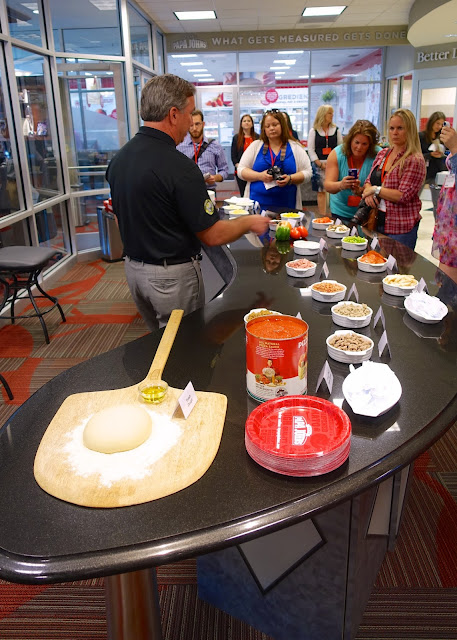 Fresh ingredients taste test at Papa John's headquarters