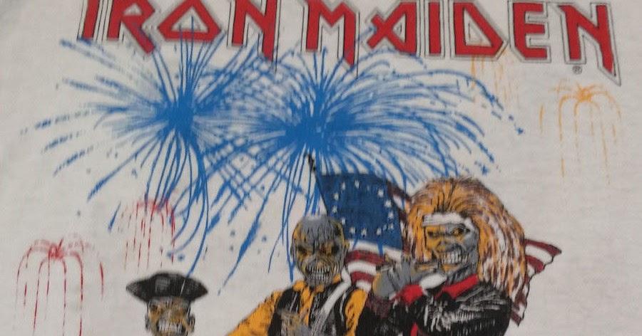vintage t-shirt: IRON MAIDEN 1984 World Slavery Tour ...