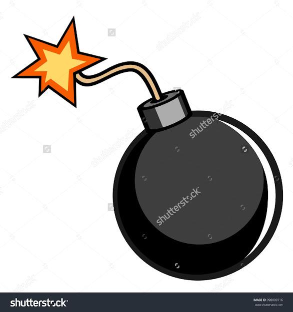 Cartoon Bomb Vector Illustration